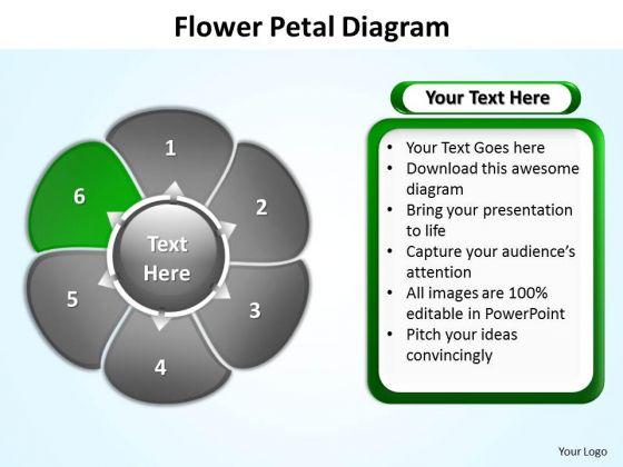 Ppt Flower Petal Illustration Editable Free PowerPoint Templates