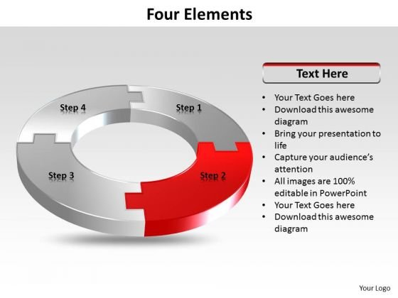 Ppt Four Colorful Puzzles Forming Circle Showing Red PowerPoint Templates