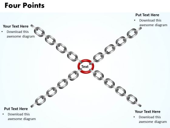 Ppt Four Interconnected Points Editable Operations Management PowerPoint Templates