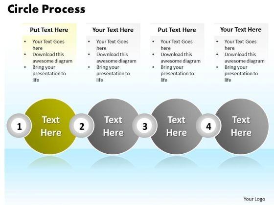 Ppt Four Scientific Method Steps PowerPoint Presentation Text Circle Templates