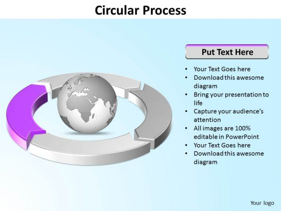 Ppt Four Segments Around Microsoft PowerPoint Backgrounds Circle Purple Templates
