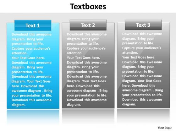 Ppt Free Red White And Blue PowerPoint Templates Text Box Representation