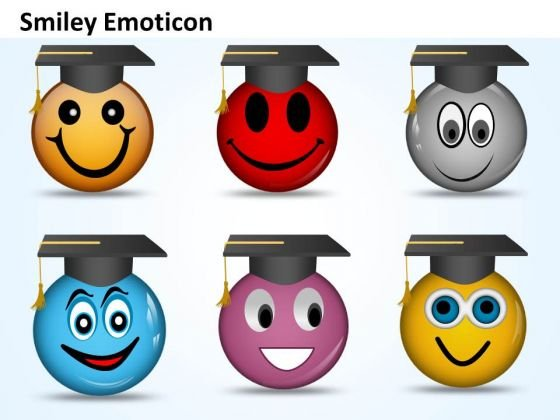 Ppt Graduation Celebration Smiley Emoticon Business Strategy PowerPoint Business Templates