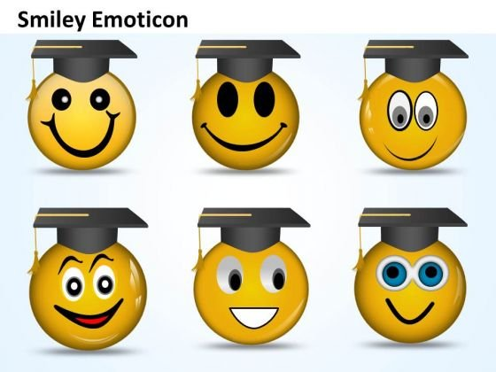 Ppt Graduation Celebration Smiley Emoticon Time Management PowerPoint Business Templates