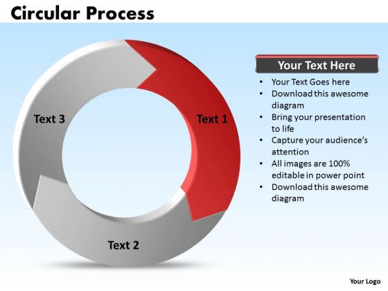 Ppt Graphical Illustration Of Circular Process PowerPoint Templates