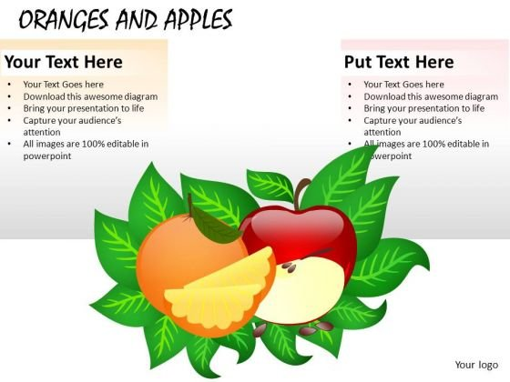 Ppt Graphics Oranges And Apples PowerPoint Slides And Ppt Templates
