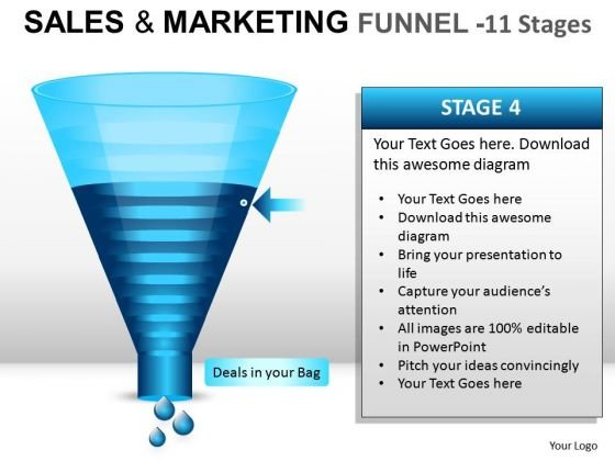 Ppt Graphics Showing Sales Marketing Funnel Diagram Slides