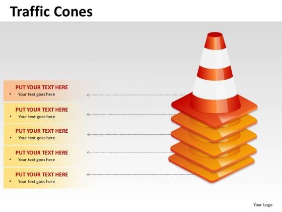 Ppt Graphics Stacked Traffic Cones PowerPoint Slides And Ppt Diagram Templates