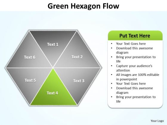 Ppt Green Factor Area Of Hexagon Network Diagram PowerPoint Template Editable Templates
