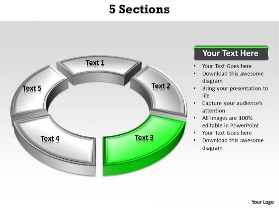 Ppt Green Section Highlighted In Circular PowerPoint Menu Template Manner Templates