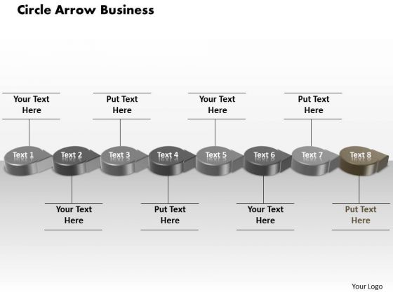 Ppt Grey Circular Arrow Business PowerPoint Theme Transactions Diagram Templates