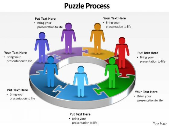 Ppt Group Of World Business PowerPoint Slide Text People With 3d Pie Chart Templates