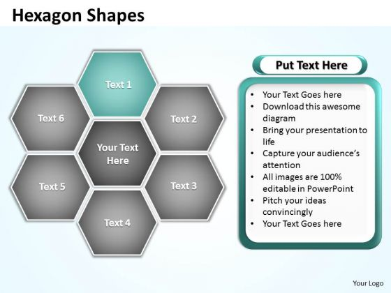 Ppt Hexagon Angles Chart Editable PowerPoint Templates 2010 Business