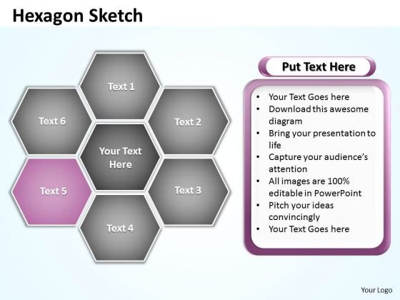 Ppt Hexagon Shapes Sketch Editable PowerPoint Certificate Templates