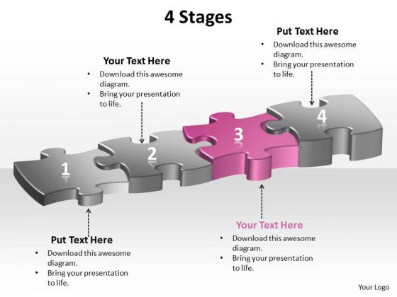 Ppt Highlighted Third Pink PowerPoint Presentation Step Of Process Templates