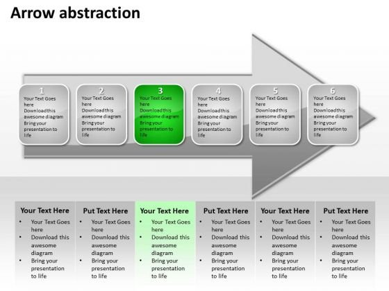Ppt Homogenuous Abstraction Of Green Concept An Arrow PowerPoint Templates