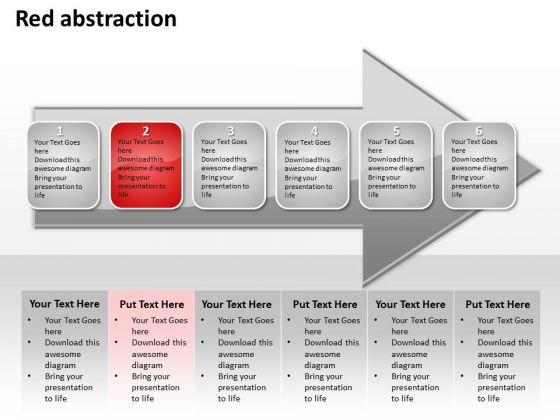 Ppt Horizontal Abstraction Of Red Layouts PowerPoint 2003 Concept An Arrow Templates