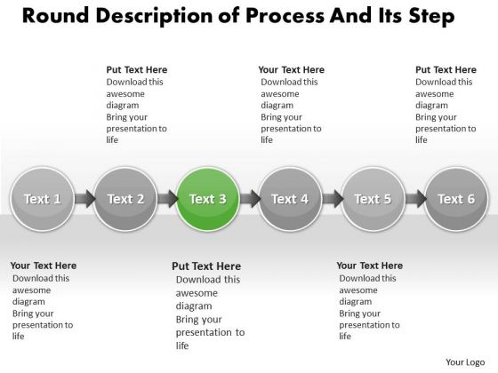 Ppt Horizontal Description Of Process And Its Step PowerPoint Templates