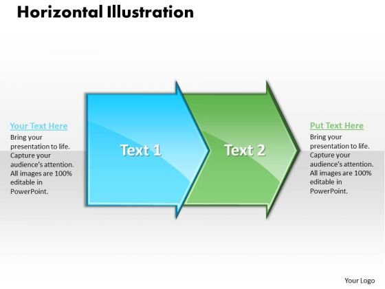 Ppt Horizontal Illustration Through Circular Arrows PowerPoint 2007 Templates