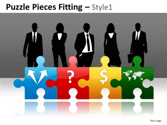 Ppt Human Resources Development Puzzle PowerPoint Slides