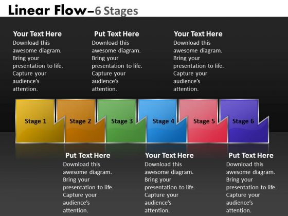 Ppt Illustration Of Six Sequential Practice The PowerPoint Macro Steps Process 1 Graphic