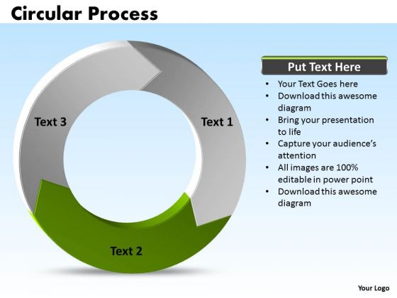 Ppt Information Process Cycle Diagram PowerPoint Templates 3 Phase