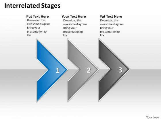 Ppt Interrelated Three Power Point Stage PowerPoint Templates