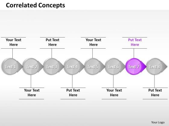 Ppt Invariable Circular Arrows PowerPoint Templates Bee Line 8 Stages Purple
