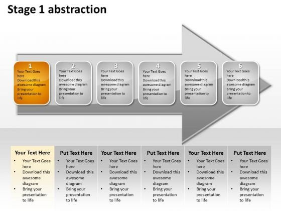 Ppt Linear Abstraction Of Orange Business Layouts Arrow PowerPoint Templates