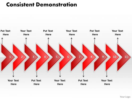 Ppt Linear Arrow 11 Power Point Stage PowerPoint Templates