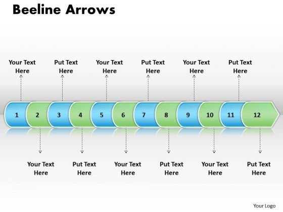 Ppt Linear Arrow 12 Stages PowerPoint Templates