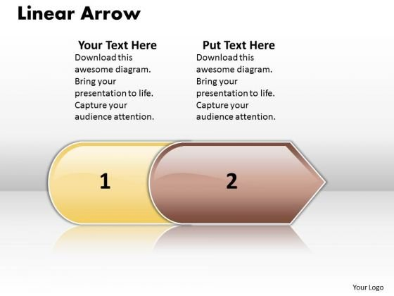 Ppt Linear Arrow 2 Stages PowerPoint Templates