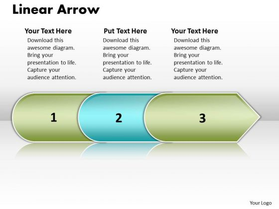 Ppt Linear Arrow 3 Power Point Stage PowerPoint Templates
