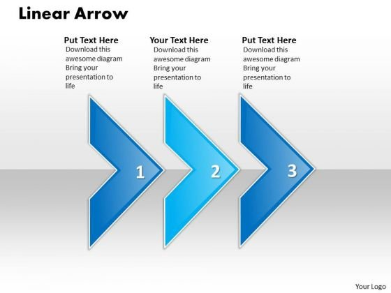 Ppt Linear Arrow 3 Stages PowerPoint Templates