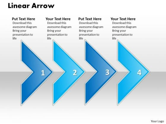 Ppt Linear Arrow 4 State PowerPoint Project Diagram Templates