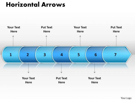 Ppt Linear Arrow 7 Power Point Stage PowerPoint Templates