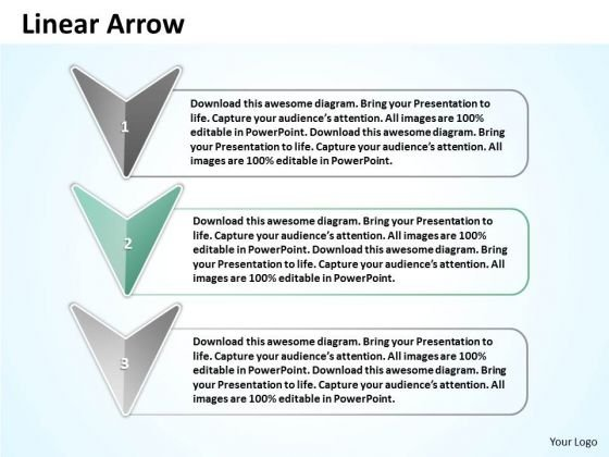 Ppt Linear Arrow And Text Link Boxes PowerPoint 2007 Templates