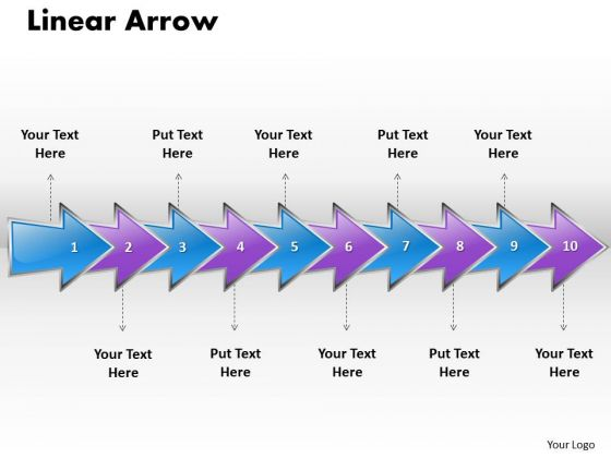 Ppt Linear Arrow Business 10 Stages PowerPoint Templates