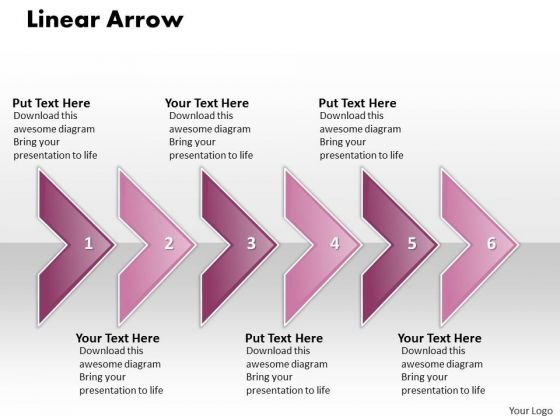 Ppt Linear Arrow Business 6 Power Point Stage PowerPoint Templates