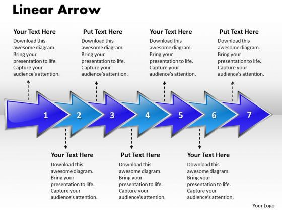 Ppt Linear Arrow Business 7 Stages PowerPoint Templates