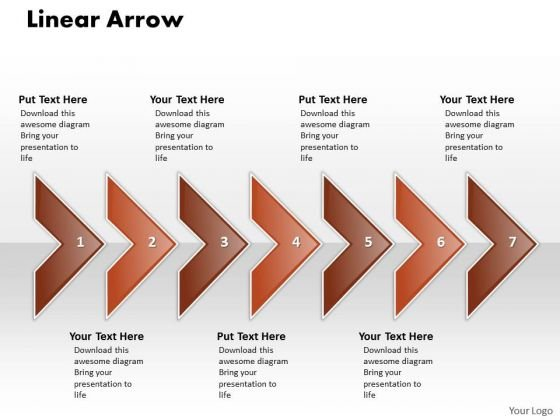 Ppt Linear Arrow Business 7 State PowerPoint Presentation Diagram Templates
