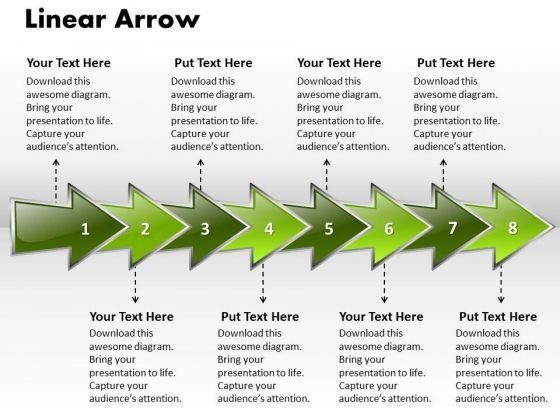 Ppt Linear Arrow Business 8 Stages PowerPoint Templates