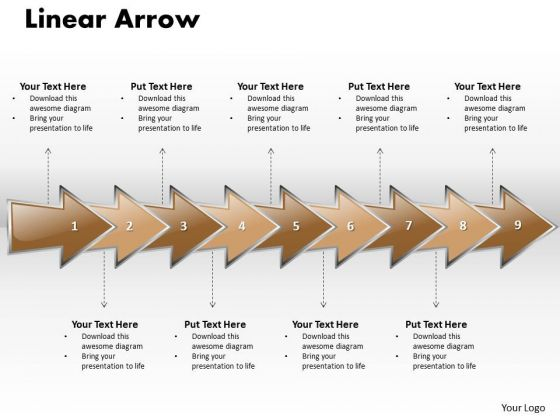 Ppt Linear Arrow Business 9 Stages PowerPoint Templates