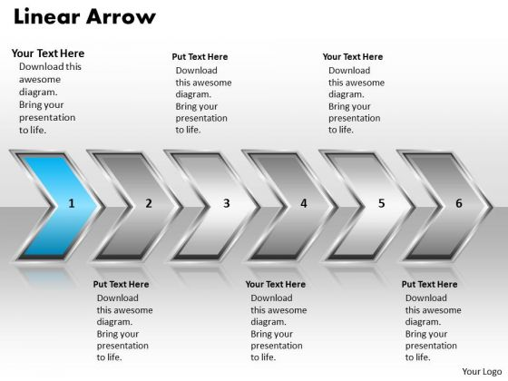ppt linear arrow change management process powerpoint presentation, Presentation templates