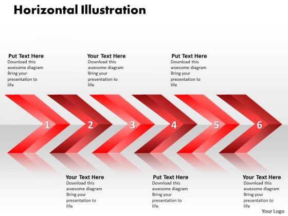 Ppt Linear Arrows 6 Stages PowerPoint Templates