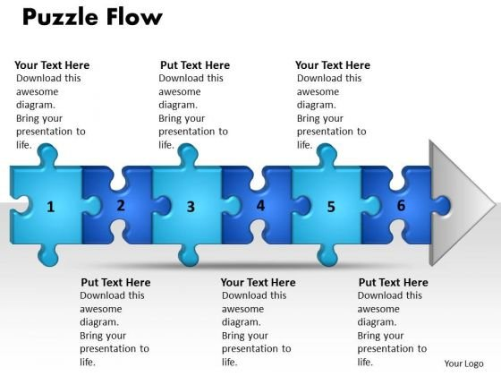 Ppt Linear Demo Create Flow Chart PowerPoint 6 Stage Style1 Templates