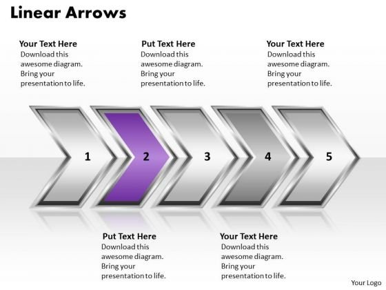 Ppt Linear Demonstration Of Arrows Diagram PowerPoint Slide Text Templates