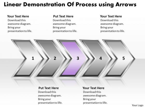 Ppt Linear Demonstration Of Business Forging Process PowerPoint Slides Templates