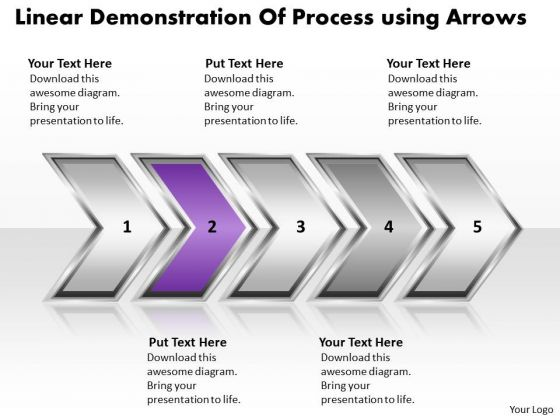 Ppt Linear Demonstration Of Business Process Using Arrows PowerPoint Templates