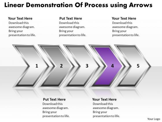 Ppt Linear Demonstration Of Marketing Process Business PowerPoint Templates